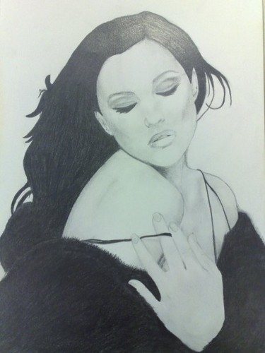 Monica Bellucci Drawing