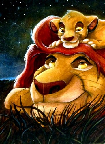 The Lion King Wallpaper Entitled Mufasa And Simba