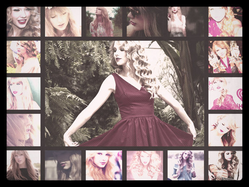 Taylor Swift wallpaper probably with a dinner dress, a gown, and a tea gown called My Taylor Collage! :D