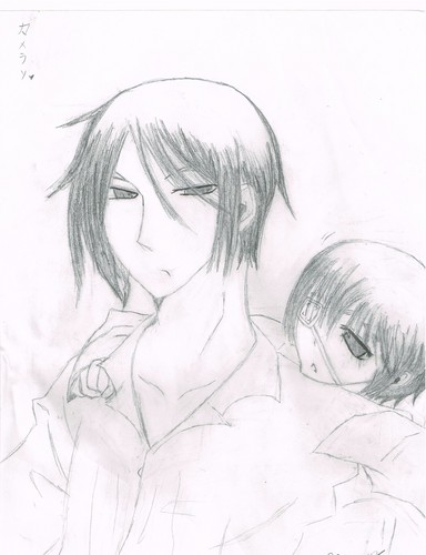 My crappy Sebastian and Ciel drawing o u o