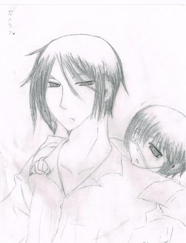 black butler wallpaper called My crappy Sebastian and Ciel drawing o u o