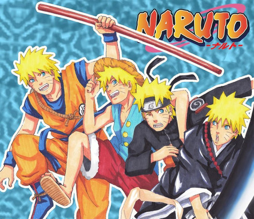 Naruto, Dragon ball, one pice, bleach