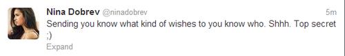 Nina tweet <3