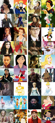 Once Upon A Time wallpaper called Once Upon A Time characters and Disney Counterparts