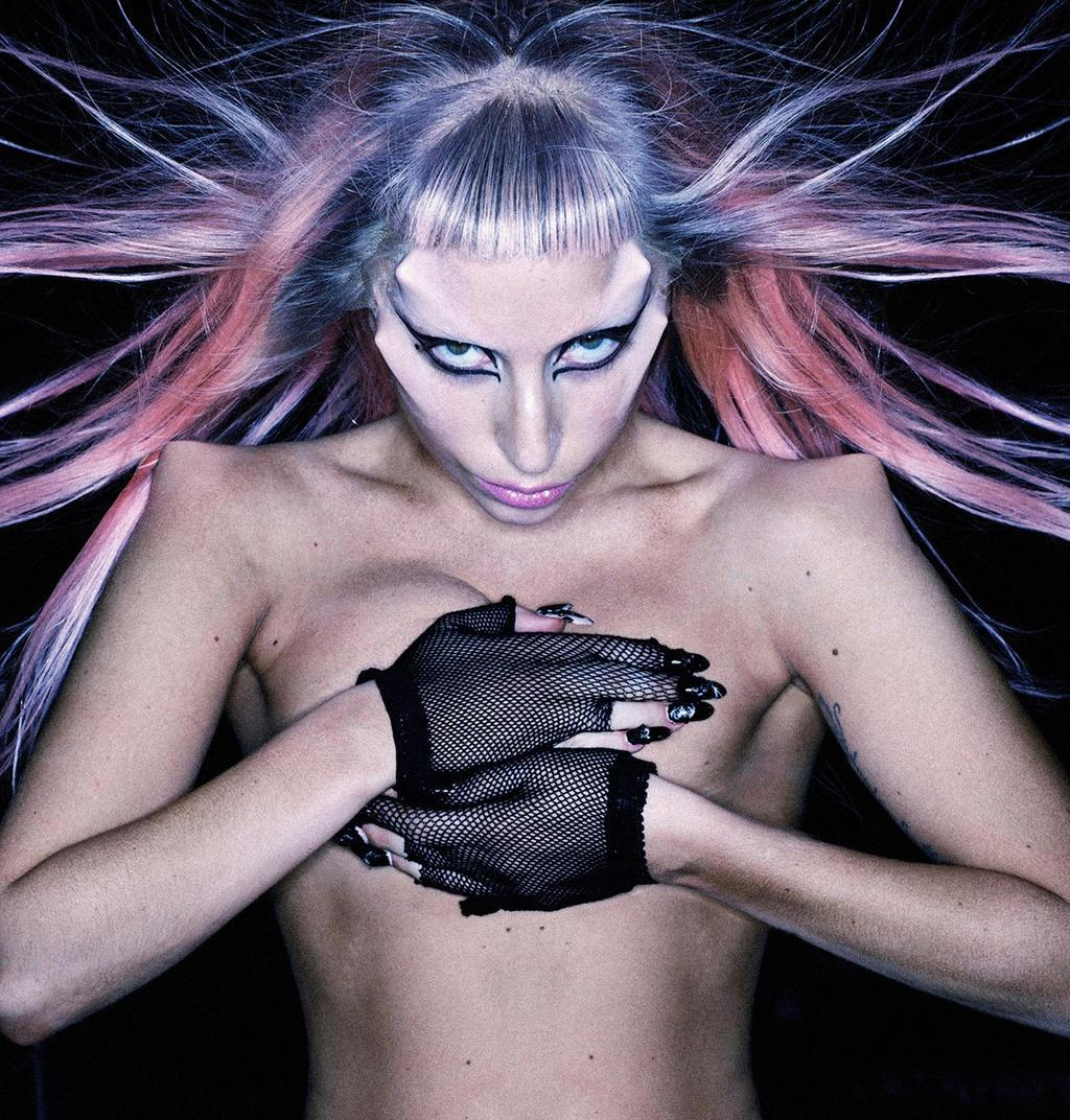 Outtake from Born This Way photoshoot by Nick Knight