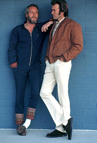 Paul Newman and Clint Eastwood.