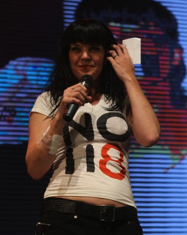 Pauley Perrette - NOH8 Celebrity Studded 4th Anniversary Party 12/12/2012
