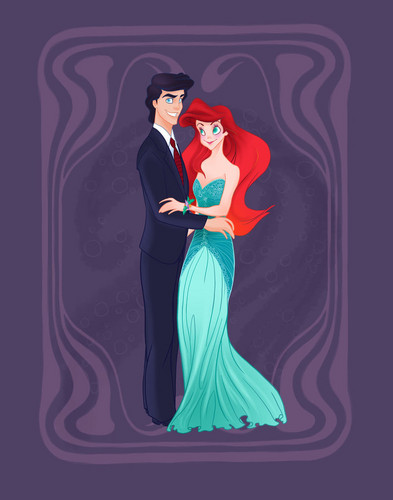 Classic Disney wallpaper possibly containing a dinner dress entitled PequenaSereia