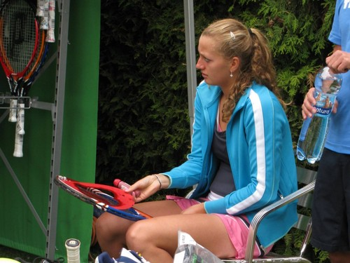 Petra Kvitova before match