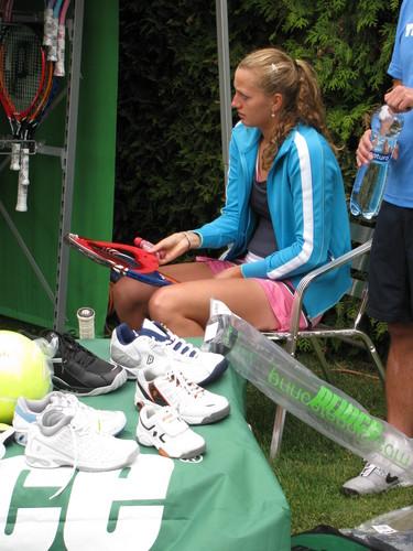 Petra Kvitova before match