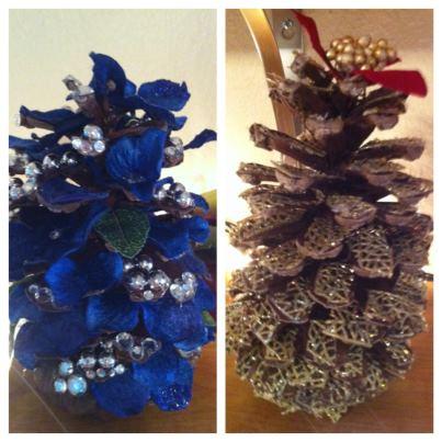 Pine cone クリスマス tree's
