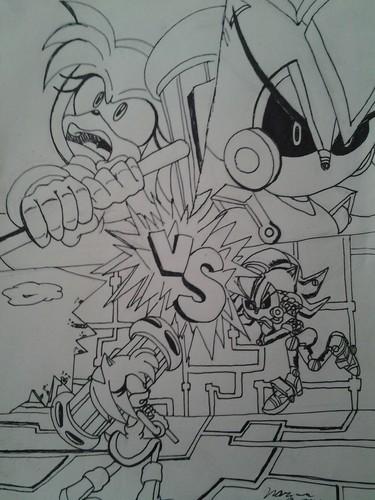 Practice comic cover X3