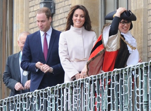 Prince William and Kate Middleton in Cambridge