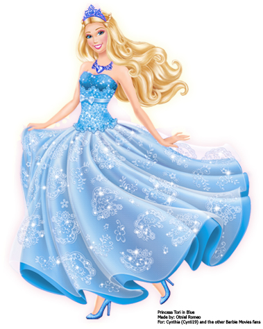 i film di Barbie wallpaper probably with a gown, a cena dress, and a bridal toga, abito titled Princess Tori in Blue