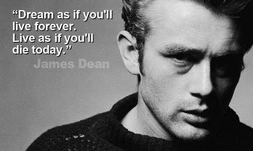 James Dean wallpaper probably containing a sign called Quotes