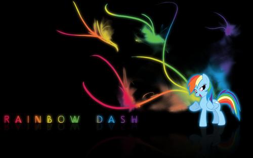 قوس قزح Dash پیپر وال