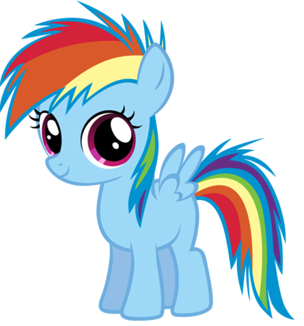 cầu vồng Dash as a filly