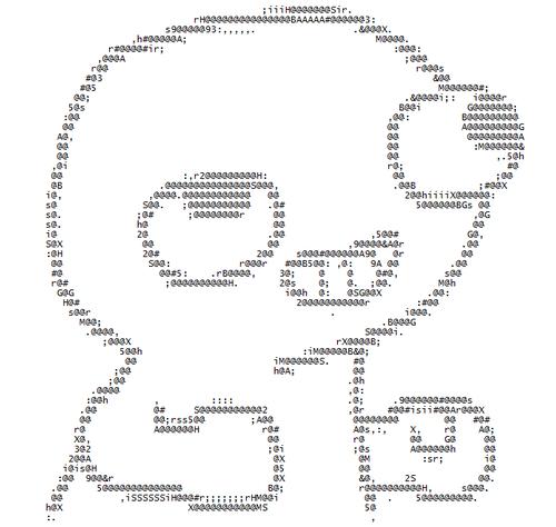 bila mpangilio ASCII Picture from http://16bitmjfan.deviantart.com/art/FSJAL-ASCII-195625439