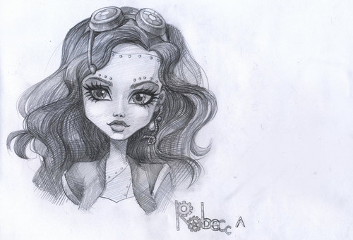 Monster High karatasi la kupamba ukuta titled Robecca Steam: Portrait