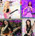 Rockstar and Popstar with their guitars