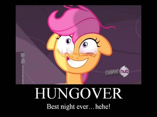 Scootaloo Hangover