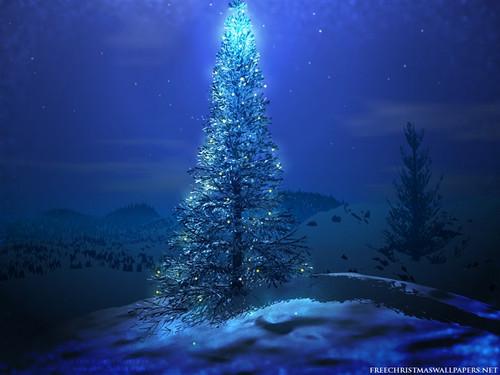 Snowy Blue Christmas