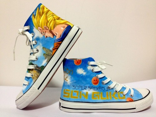 Son 悟空 Super Saiyan custom shoes