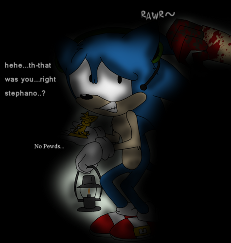 Sonic as PewDiePie