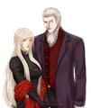 Sparda and Eva - devil-may-cry fan art