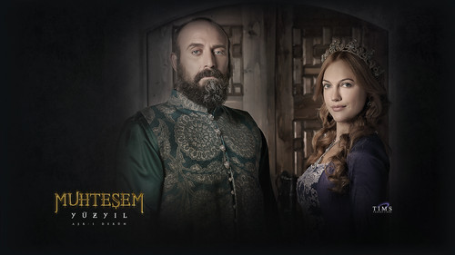 Sultan Suleyman and Hurrem Sultana - muhtesem-yuzyil-magnificent-century Wallpaper