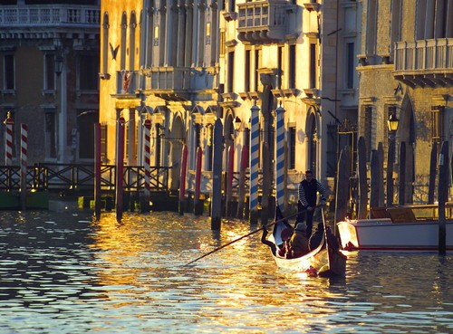 Italy 바탕화면 with a gondolier titled The Beautifulness of Venice