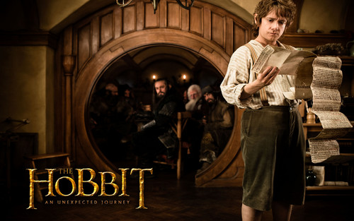 The Hobbit - Bilbo Baggins kertas dinding