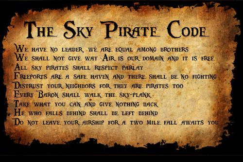 The Sky pirate code