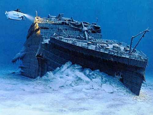 The Titanic At The Bottom Of The Sea