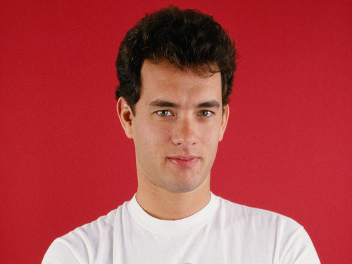 Tom Hanks achtergrond possibly with a jersey and a portrait titled Tom Hanks