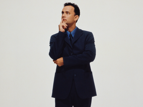 Tom Hanks wallpaper containing a business suit, a suit, and a well dressed person titled Tom Hanks