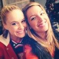 Vanessa Lengies &amp; Becca Tobin  - glee photo