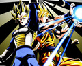 Vegeta SS1 &amp; Goku SS1 - dragon-ball-z photo