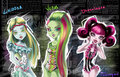 Venus, Lagoona & Draculaura: Swimsuits - monster-high fan art