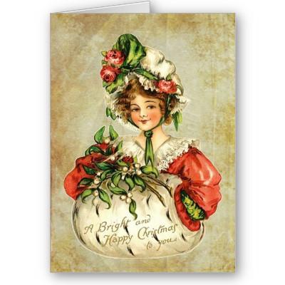 Vintage বড়দিন card
