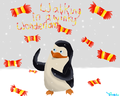 Walking in a Winky Wonderland! :D  - penguins-of-madagascar fan art