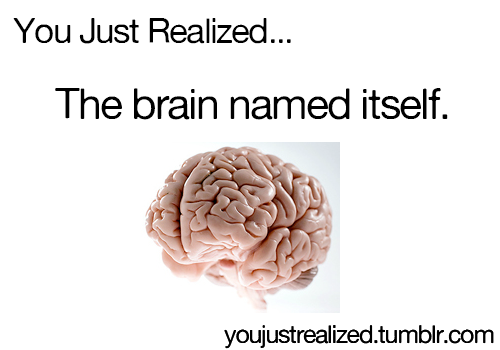 u just realized...