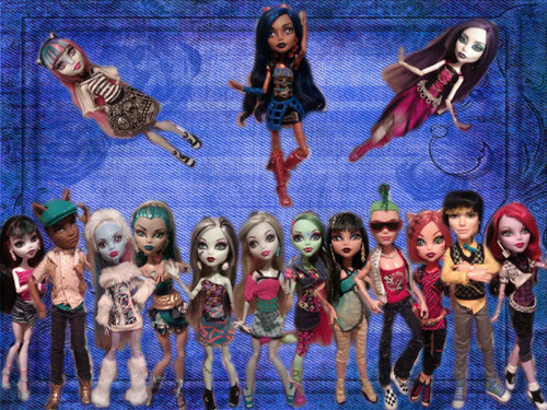 all my monster high muñecas