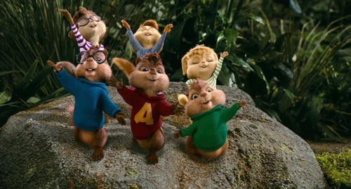Alvin and the Chipmunks 3: Chip-Wrecked वॉलपेपर probably with a bouquet called bad romance