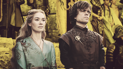 Game of Thrones karatasi la kupamba ukuta entitled Cersei & Tyrion Lannister