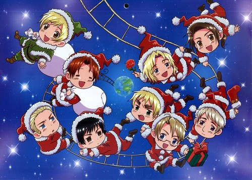Hetalia wallpaper probably containing anime titled hetalia christmas