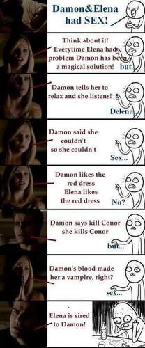 Damon & Elena वॉलपेपर titled lmao!