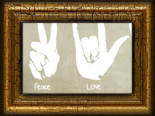 rock:peace and love