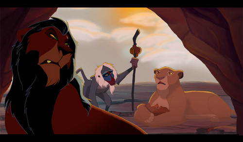 the lion king wallpaper entitled scar and sarabi