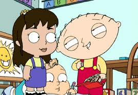 Family Guy wallpaper containing anime titled stewie and janet